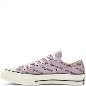 Chuck Taylor All Star '70 Love Fearlessly Leather Low Top Amethyst Grey