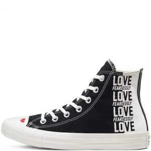 Chuck Taylor All Star Love Fearlessly Canvas High Top Black