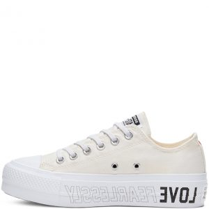 Chuck Taylor All Star Love Fearlessly Canvas Lift Low Top Egret
